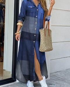 Sukienka Kendallme koszulowa maxi w stylu casual