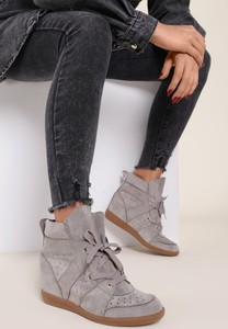 Sneakersy Renee sznurowane na koturnie