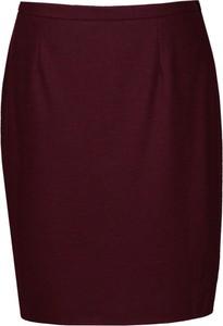 Czerwona spódnica Fokus midi z tkaniny