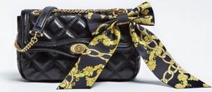 Czarna torebka Guess z bawełny w stylu glamour z kokardką