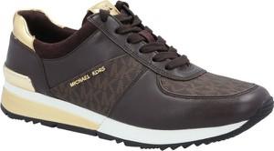 Buty sportowe Michael Kors z płaską podeszwą sznurowane ze skóry