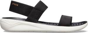 Czarne sandały Crocs w sportowym stylu