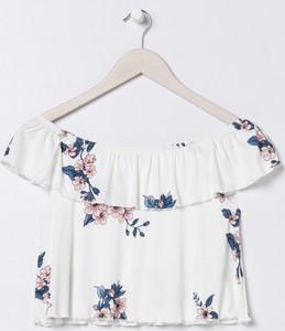 Bluzka Sinsay z krótkim rękawem w stylu casual