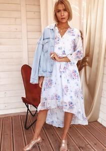 Sukienka Latika wyszczuplająca z długim rękawem
