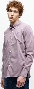 Koszula Timberland z kołnierzykiem button down z długim rękawem
