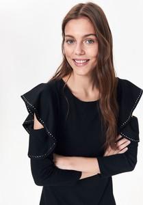 Czarna sukienka Top Secret w stylu casual z odkrytymi ramionami mini