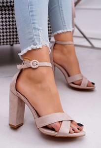 Sandały Ps1 z klamrami z zamszu