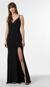 Czarna sukienka Mascara prosta z dekoltem w kształcie litery v maxi