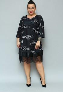 Sukienka KARKO dla puszystych z dresówki