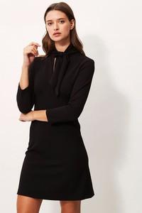 Czarna sukienka Sandro Ferrone w stylu casual mini z długim rękawem