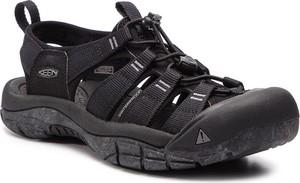 Granatowe buty letnie męskie Keen w stylu casual ze skóry ekologicznej