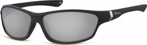 Stylion Okulary dziecięce sportowe Unisex czarne matowe lustrzane CS90A