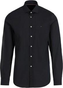 Czarna koszula Tommy Hilfiger z długim rękawem