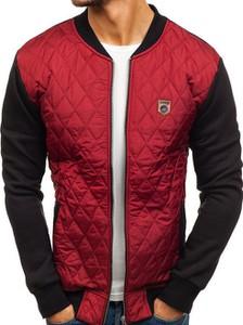 Czerwona kurtka Denley z bawełny