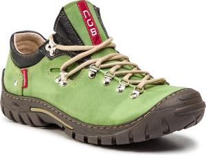 Buty trekkingowe NAGABA sznurowane ze skóry w sportowym stylu