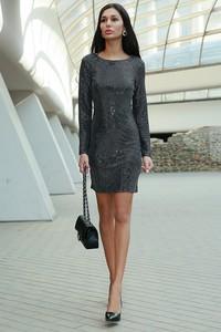 Granatowa sukienka Ivet.pl midi