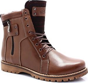 Brązowe buty zimowe Kent w stylu casual