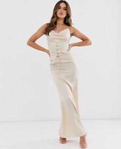Sukienka Missguided gorsetowa maxi na ramiączkach