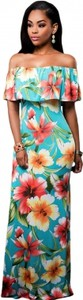 Elegrina długa sukienka kelis kolorowa