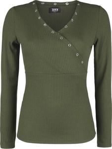 Zielona bluzka Emp z dekoltem w kształcie litery v