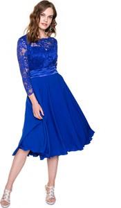 Sukienka L'AF z okrągłym dekoltem midi trapezowa