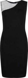 Czarna sukienka Guess Jeans bez rękawów z okrągłym dekoltem