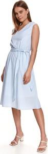 Sukienka Top Secret z dekoltem w kształcie litery v bez rękawów midi