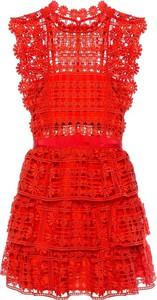Czerwona sukienka Self Portrait bez rękawów