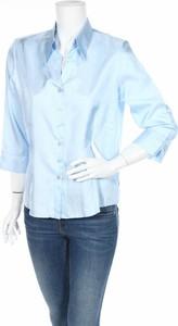 Niebieska koszula Gelco z długim rękawem z kołnierzykiem