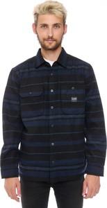 Granatowa koszula Lee z kołnierzykiem button down z długim rękawem