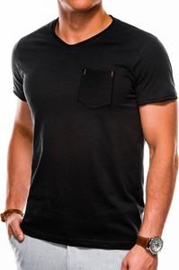 Czarny t-shirt Ombre z krótkim rękawem