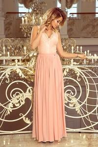 Różowa sukienka NUMOCO maxi