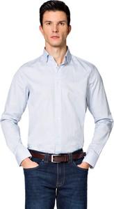 Koszula LANCERTO z nadrukiem z klasycznym kołnierzykiem