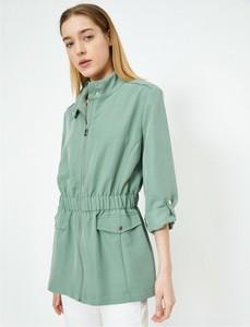 Zielony płaszcz Koton