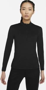 Czarny t-shirt Nike w sportowym stylu z długim rękawem z plaru