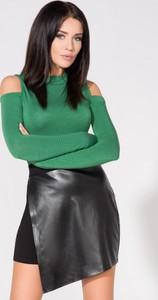 Zielona bluzka Tessita z długim rękawem z dzianiny