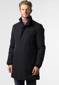 Niebieski płaszcz męski Hugo Boss