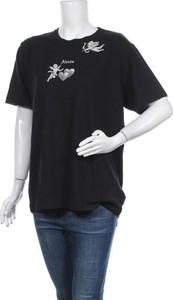 Czarny t-shirt Afends w sportowym stylu z okrągłym dekoltem