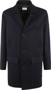 Niebieski płaszcz męski Brunello Cucinelli
