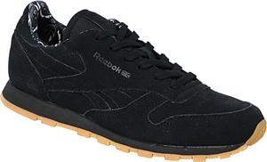 Czarne buty sportowe dziecięce Reebok z zamszu sznurowane