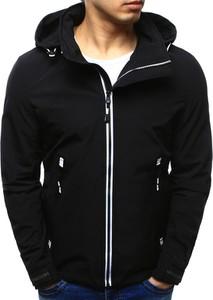 Dstreet kurtka męska przejściowa z kapturem czarna (tx2101)