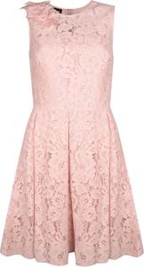 """Różowa sukienka Pinko Sukienka """"cecily"""" bez rękawów z okrągłym dekoltem"""