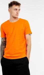 Pomarańczowy t-shirt BREEZY z bawełny