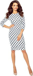 Sukienka Ptakmoda.com z długim rękawem z okrągłym dekoltem