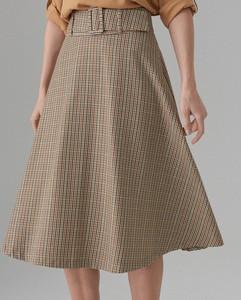 Brązowa spódnica Mohito midi