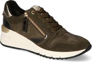Buty sportowe Tamaris sznurowane ze skóry ekologicznej