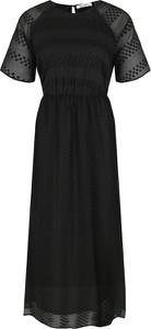 Sukienka NA-KD z okrągłym dekoltem z krótkim rękawem midi