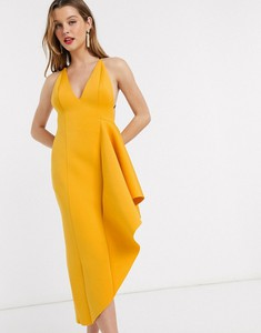 Żółta sukienka Asos na ramiączkach