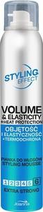 Joanna, Styling Effect, pianka do włosów dodająca objętości i elastyczności, Ekstra Mocna, 150 ml