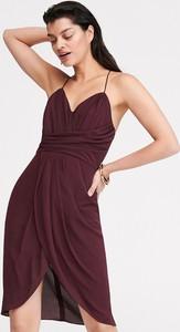 Sukienka Reserved z szyfonu z dekoltem w kształcie litery v midi